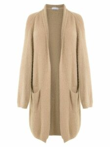 Mara Mac knitted long cardigan - Neutrals