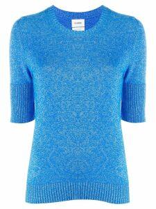 Barrie knitted plain T-shirt - Blue