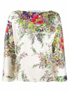 Blumarine floral blouse - Green