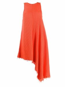 Unravel Project ribbed dress - Orange