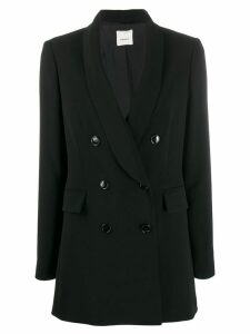 Leqarant double-breasted blazer jacket - Black