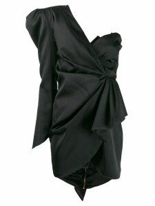 Nineminutes one shoulder dress - Black