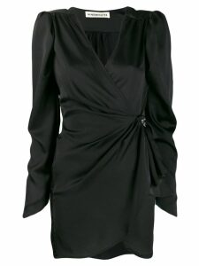 Nineminutes wrap front mini dress - Black