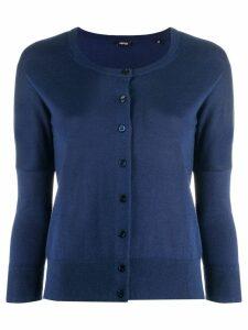 Aspesi classic short cardigan - Blue