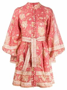 Zimmermann paisley print structured dres - Orange