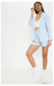 Blue Linen Woven Blazer, Blue