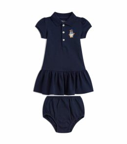 Polo Bear Dress and Bloomers Set