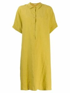 Apuntob oversized henley dress - Yellow