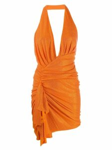 Alexandre Vauthier embellished draped dress - Orange