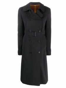 Liska mink fur trench coat - Black