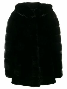 Liska Valencia hooded coat - Black