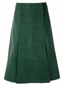 Clé leather midi skirt - Green