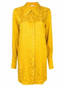 Stine Goya jacquard tunic shirt - Gold