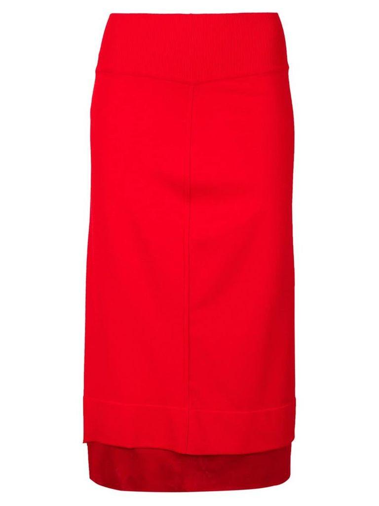 Givenchy layered hem midi skirt