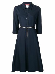 Max Mara Studio belted shirt dress - Blue