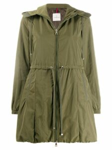 Moncler fitted parka coat - Green