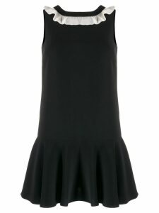 Red Valentino techno fluid dress with ruffle detail - Black