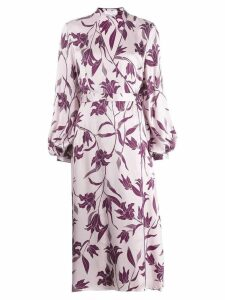 Equipment floral print wrap dress - Purple