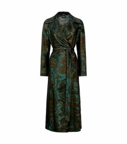 Tosh Wool-Silk Jacquard Coat