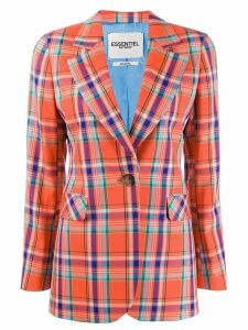 Essentiel Antwerp tartan pattern blazer - Orange