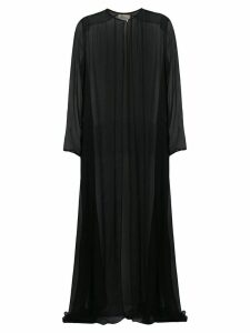 Temperley London Lullaby chiffon coat - Black