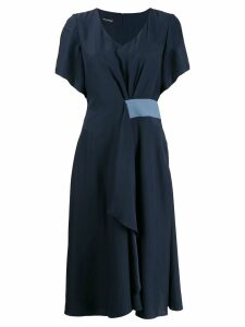 Emporio Armani v-neck midi dress - Blue