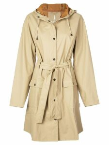 Rains hooded raincoat - Neutrals