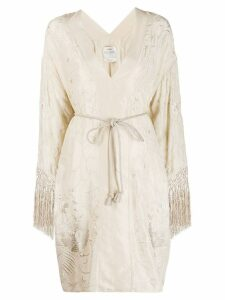 Forte Forte embroidered tunic dress - Neutrals