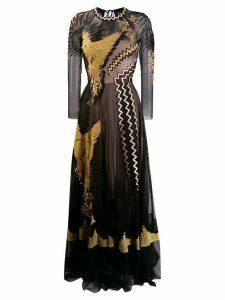 Temperley London opera sleeve gown - Black