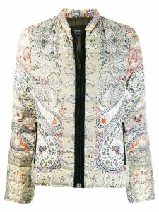 Etro paisley print padded coat - Green