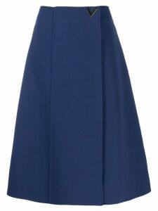 Valentino A-line midi skirt - Blue