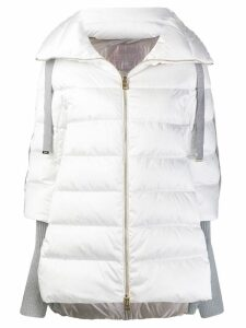 Herno contrasting sleeves padded coat - White