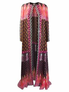 Temperley London Millais printed chiffon coat - Black