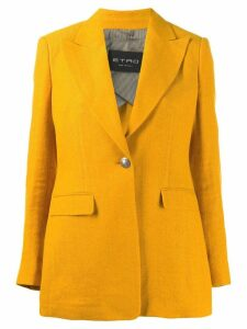 Etro V-neck boxy blazer - Yellow