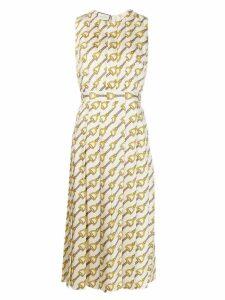Gucci Stirrups-print silk dress - Neutrals