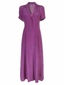 Lhd gingham shirt dress - Purple