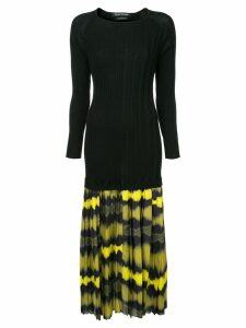 Wynn Hamlyn ripple pleat dress - Black