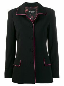 Etro lined blazer jacket - Black
