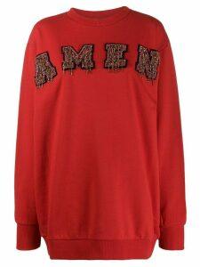 Amen bead-embellished jumper - Red