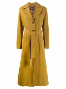 Etro tie waist trench coat - Neutrals