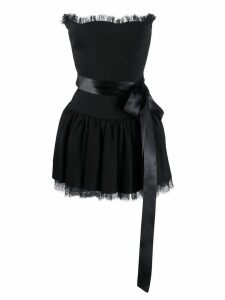 Alexandre Vauthier tulle trim mini dress - Black