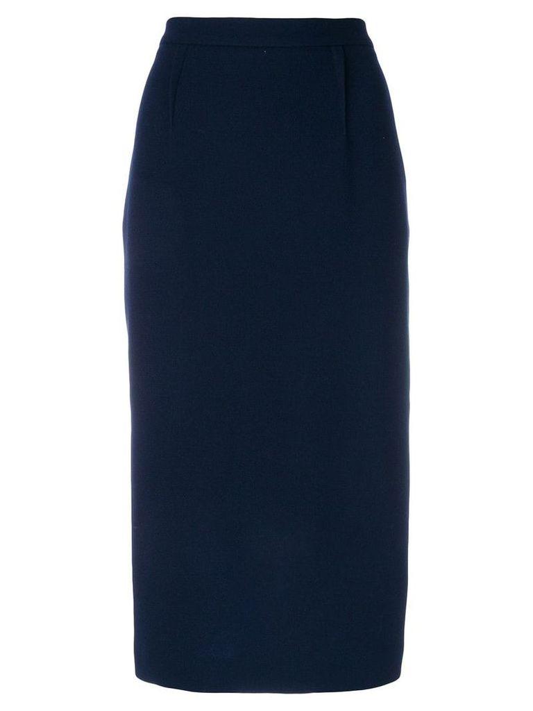 Roland Mouret high waist pencil skirt - Blue