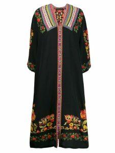 Etro floral printed day dress - Black