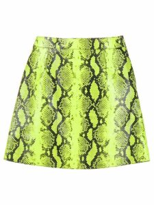 Off-White snake-look A-line skirt - Yellow