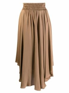 Fabiana Filippi asymmetric mid-length skirt - Brown