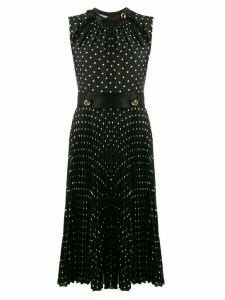 Prada polka dot pleated dress - Black