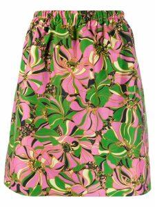 La Doublej botanic print skirt - Pink