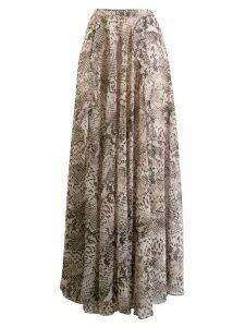 Liu Jo python print full skirt - Neutrals