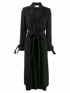 Lanvin belted midi coat - Black