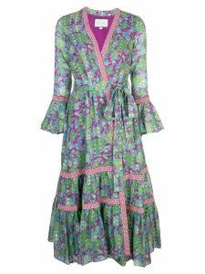 Alexis Marcas wrap dress - Purple